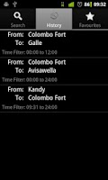 Screenshot of Train Schedules of Sri Lanka