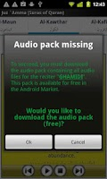 Screenshot of Audio Pack (Ali Hudhaify)