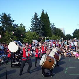06 nihon festival - drumming savages~! by Frank Buist - City,  Street & Park  Street Scenes