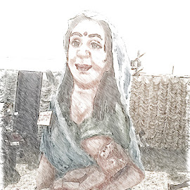 Mother by Amit Kumar - Drawing All Drawing ( mother )