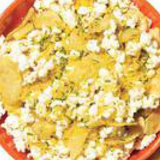 Loaded Baked Potato-and-Popcorn Mix
