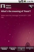 Screenshot of Easy SMS PurpleNight theme