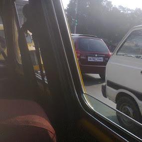 THE ANGLED WINDOW PANE/AN ANGLED LOOK THROUGH by Jayita Mallik - Transportation Automobiles