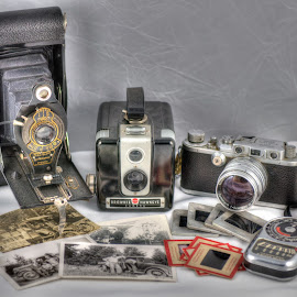 Old Workhorse's  by Dennis McClintock - Artistic Objects Antiques ( camera, old cameras challenge, brownie, leica, antique,  )