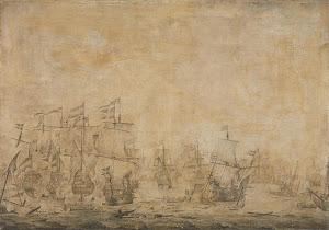 RIJKS: attributed to Willem van de Velde (I): painting 1693