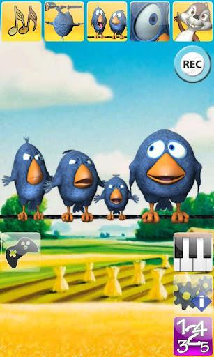 說話的鳥兒在電線上AdFree
