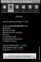 Screenshot of World War Calculator