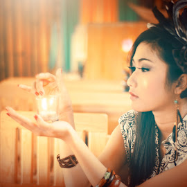 Candle In The Glass by Benny Irawan S. Duna - Novices Only Portraits & People