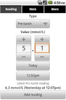 Screenshot of Glucool Diabetes Premium
