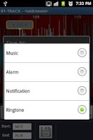 Screenshot of Ringtone Maker and cutter