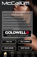 Screenshot of McCallum Hair Design