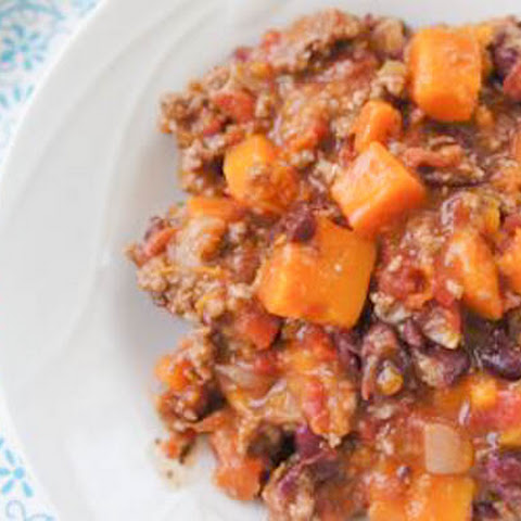 BUTTERNUT SQUASH AND GROUND TURKEY CHILI