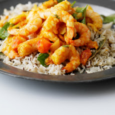 King Prawn Bhoona Curry With Cumin Rice