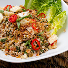 Pork Larb (Thai Salad with Pork, Herbs, Chili, and Toasted Rice Powder)