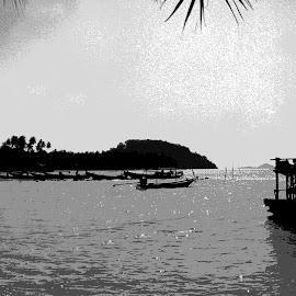Koh Samui sunset by Simon Matthews - Landscapes Travel ( holiday, vacation, koh samui, thailand, beach, boat,  )