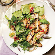 Grilled Chicken Thighs with Thai Basil Salad