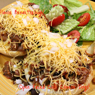Open Faced Chili Cheese Dogs!