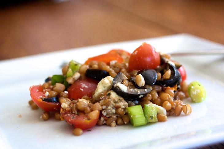 wheat berry salad berries salad baked tofu foods wild rice tofu salad ...