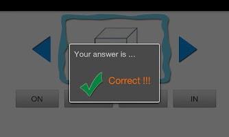 Screenshot of Easy Preposition Quiz