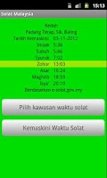 Screenshot of Solat Malaysia