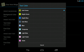 Screenshot of Clear Note Widget Sticky Notes