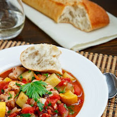 Fish and Zucchini Puttanesca Stew