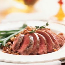 Duck Breasts with Cider-Farro Risotto