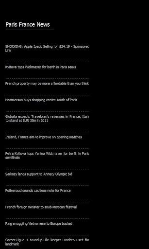 Paris France News