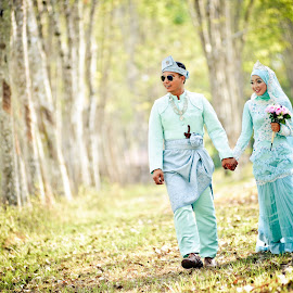 Fairus & Wana by Caownphotography Shahrol - Wedding Bride & Groom ( love, wedding, couple, loving, bride, groom )