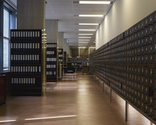 Royal Library of Belgium – Brussels  Reading room and of research of the department of the precious reserve