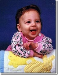 Jamie as a baby
