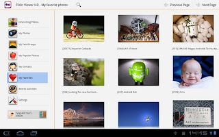 Screenshot of Flickr Viewer HD