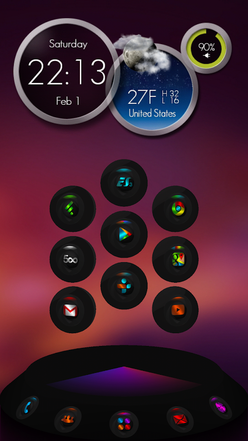 Next Launcher Theme Contrastum Screenshot 3