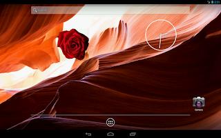 Screenshot of Blooming Rose battery widget