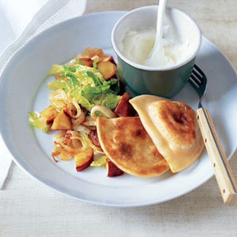 Potato Pierogi with Sautéed Cabbage and Apples