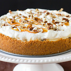 Salted Caramel Apple Cheesecake Pie