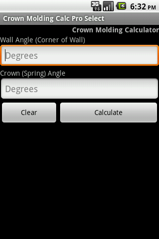 Crown Molding Calc Pro Select