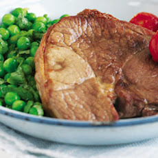 Lamb Steaks With Honey And Minted Peas