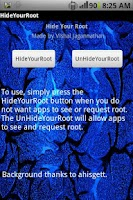 Screenshot of Hide Root (Hide My Root)