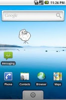 Screenshot of Forever Alone SMS Widget