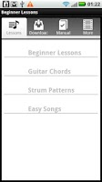 Screenshot of Beginner Guitar Lessons