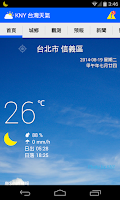 Screenshot of KNY 台灣天氣 Taiwan Weather