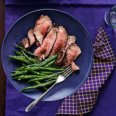 Coffee-Rubbed Tri-tip with Gremolata Green Beans