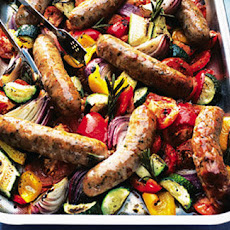 Oven-roasted Sausages With Ratatouille
