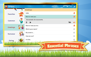 Screenshot of Phrasebook - Learn Languages