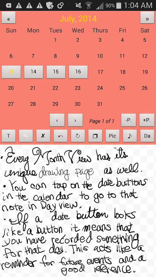 S Pen Planner Screenshot 1