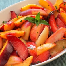 Serious Salads: Stone Fruits with Ginger-Lime Syrup and Mint
