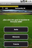 Screenshot of Football Trivia Trial
