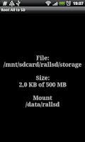 Screenshot of Root # All Data2SD card.