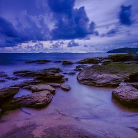rock & cloud by Arik S. Mintorogo - Landscapes Cloud Formations
